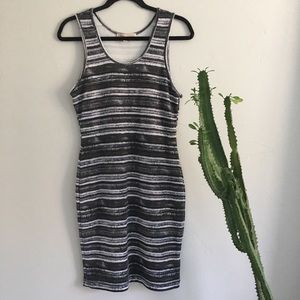 Philosophy Stripped Pencil Dress Sz M